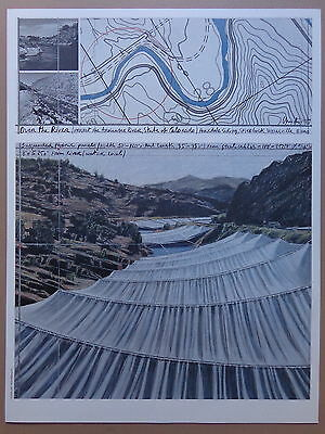 CHRISTO (°1935) / OVER THE RIVER / KLEUROFFSET / 82x62cm / WOLFGANG VOLZ
