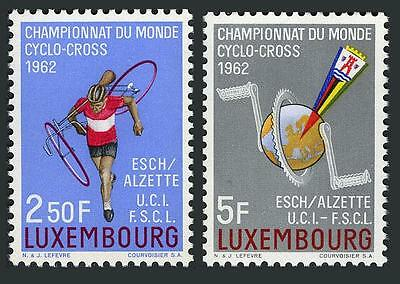 Luxembourg 384-385 blocks/4,MNH.Michel 647-648. Cross-country Bicycle Race,1962.