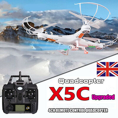 X5C 2.4Ghz 6-Axis 4CH RC Quadcopter aircraft Gyro with HD Camera Childs Gift UK