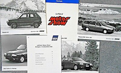 Fiat Panda 4x4 Sisley Tipo IE Racing IE 16V Press Pack Photograph x 4 1990 Italy