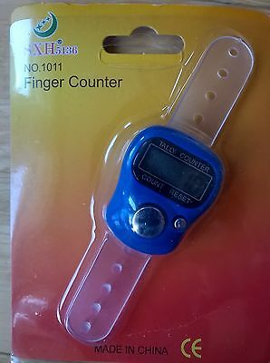 Golf Stroke Finger Counter Electronic Digital (Brand New) Dark Blue