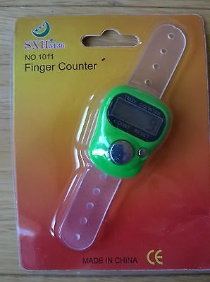Golf Stroke Finger Counter Electronic Digital (Brand New) Light Green