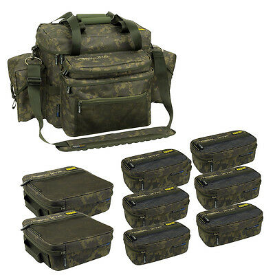 Shimano NEW Tribal XTR Compact System Camo Carryall + 8 Accessory Bags