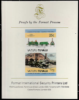 Tuvalu (1582) - RAILWAYS  imperf on Format International PROOF  CARD