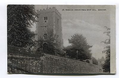 Newport, Monmouthshire - St Woollos Church - old postcard