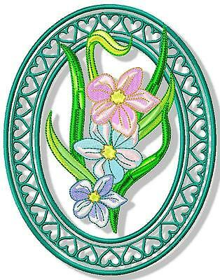 Fancy Floral Ovals 10 Machine Embroidery Designs Cd 3 Sizes