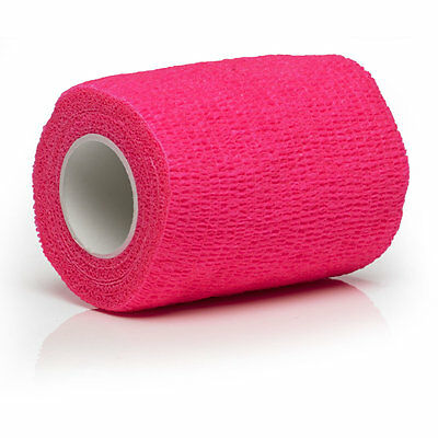 Cohesive Bandages Pink 5cm x 4.5m - 12 Rolls (Suitable for Horses) **Free P&P**