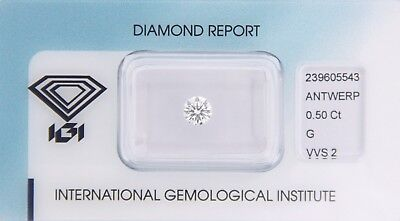 Diamant 0,50ct G VVS 2