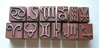 """STAR SIGNS"" Printing Blocks."