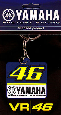 Valentino Rossi Yamaha Factory Racing VR 46 Moto GP Rubber Keyring Keychain