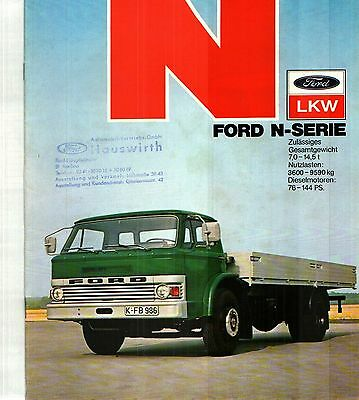 1974 FORD N SERIES DELUXE 20 page COLOR CATALOG