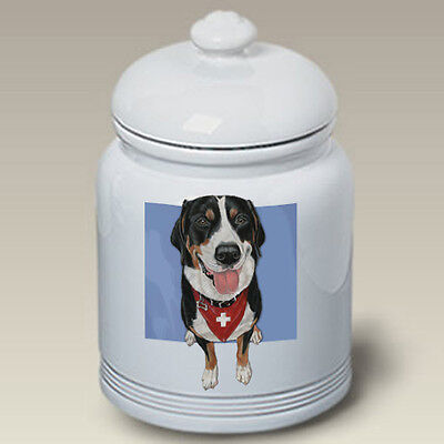 Ceramic Treat Cookie Jar - Greater Swiss Mountain Dog (PS) 52144