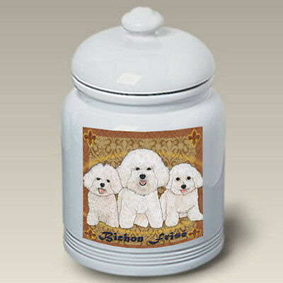 Ceramic Treat Cookie Jar - Bichon Frise (PS) 52037