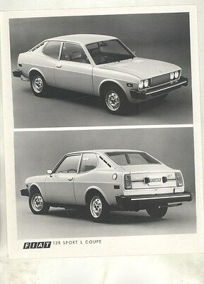 1974 Fiat 128 Sport L Coupe ORIGINAL Factory Photograph ww5919