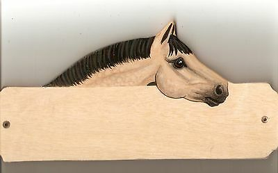 Connemara horse/pony stable/stall/barn name plate/plaque/sign personalised gift