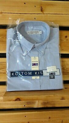 Bundle Of 2 New Pale Blue Short Sleeve Easy Iron Mens Oxford Shirt Uniform Shirt