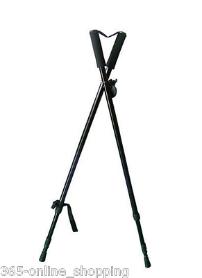 Telescopic shooting sticks hunting shooting stand Gun rest tripod Walking rest