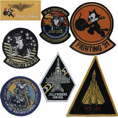 Aufnäher US-Navy Abzeichen VF-31 TOMCATTERS Swordsmen Jolly Rogers Felix the Cat