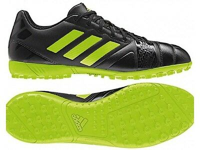 5f18ca2fd374 ADIDAS NITROCHARGE BOYS Girls Unisex Turf Football Boots Black Green - EUR  12