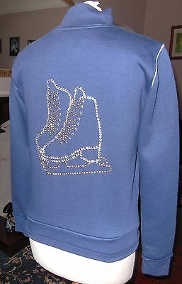 New Glitzy Ice Skating Dress Jacket Ladies 8 with Stunning Crystal Motif