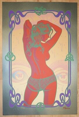 2011 Led Zeppelin - Black Dog at 40 Psychedelic Art Print s/n by Justin Hampton