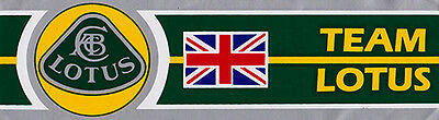Team Lotus Sticker  Silver background, yellow & green graphics