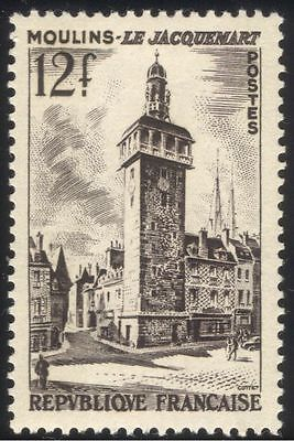 France 1955 Moulins Belfry/Clock Tower/Campanile/Building/Architecture 1v n44522
