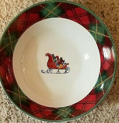 "Block FATHER CHRISTMAS 7 1/4"" Coupe Cereal Bowls Set of 3"