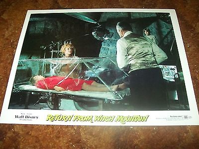 "Return From Witch Mt. - Disney Movie Lobby Card 11"" x 14"" - 1978"