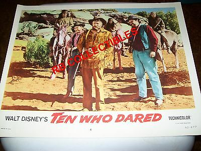 "Ten Who Dared - Disney Movie Lobby Card 11"" x 14"" - 1960"