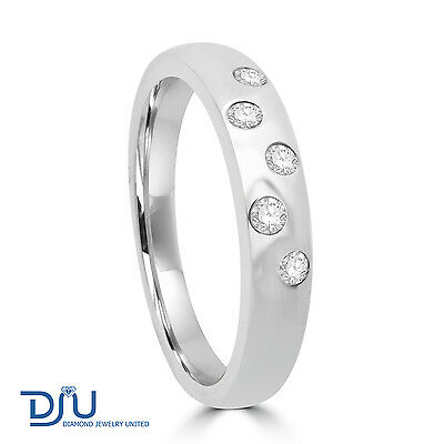 0.13 carat Diamond Studded Ring in 14K Solid White Gold