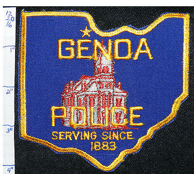 Ohio, Genoa Police Dept State Shaped Patch