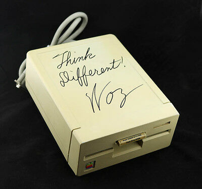 "Steve Woz Wozniak SIGNED Apple Computer 5.25"" Disk Drive PSA/DNA AUTOGRAPHED"