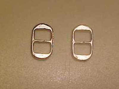 "RDLC 1/8"" OVAL BUCKLES in Traditional 1:9 Model Horse Scale - SILVER-TONED Pair"