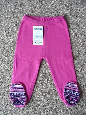 JoJo Maman 12-18 Months New Fair Isle Knitted Leggings £16 Baby Girl Trousers