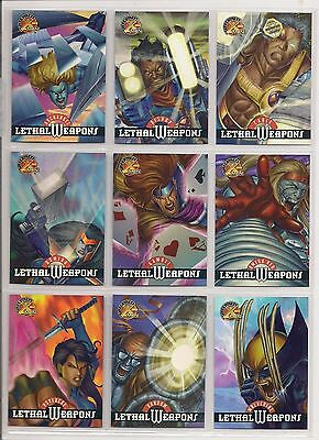 1995 FLEER ULTRA X-MEN ALL-CHROMIUM Lethal Weapons CHASE CARD SET nm/MINT