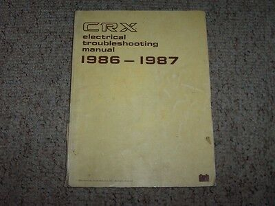 1990 honda civic crx service repair manual electrical wiring 1987 honda civic crx oem electrical wiring diagram troubleshooting manual hf si