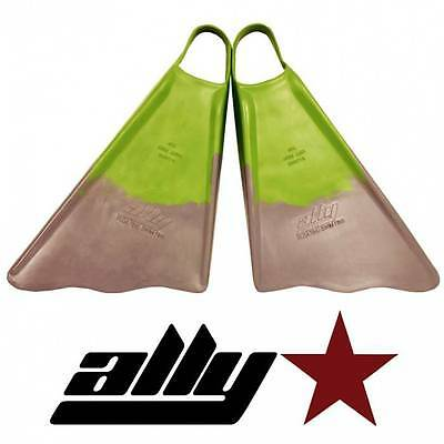 New Ally Floating Swim/Bodyboarding Fins/Size Extra Large/Green/Grey