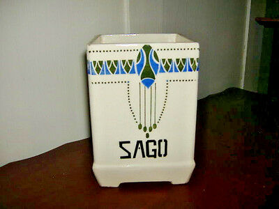 Antique Sago Kitchen Storage Jar NO LID Faience French Country Germany Canister