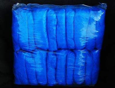 100 Blue Disposable Waterproof Shoe Covers & Boot Covers- Good For Work Boot