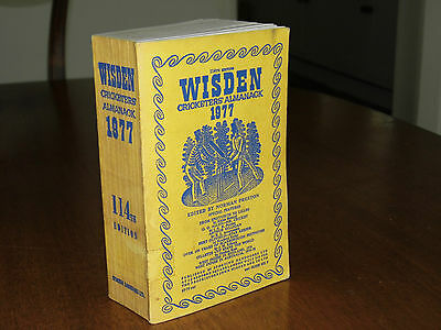 SPECIAL OFFER:Wisden Cricketers' Almanack 1977 Linen Covers VERY GOOD condition