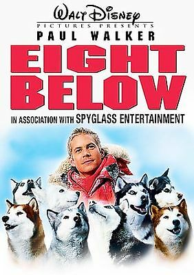 Eight Below Dvd Widescreen Dvd Paul Walker Moon Bloodgood 2006 Disney Dvd