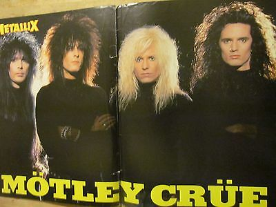 Motley Crue, Two Page Vintage Centerfold Poster