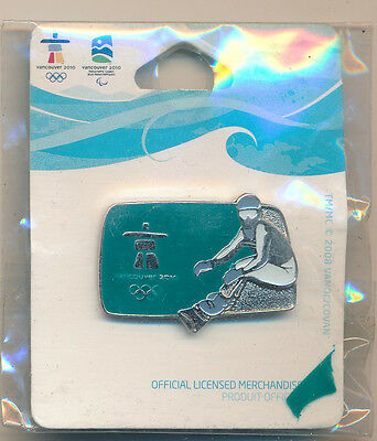 Vancouver 2010 Silhouette Snowboarder Olympic Pin