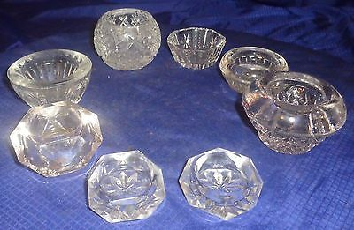 SE812 Antique Vtg EAPG Salt Cellars Lot x8