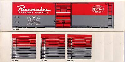NYC Pacemaker boxcar, TT scale printed sides