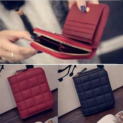 Fashion Women Leather Bifold Wallet Zipper Clutch Card Holder Purse Handbag B