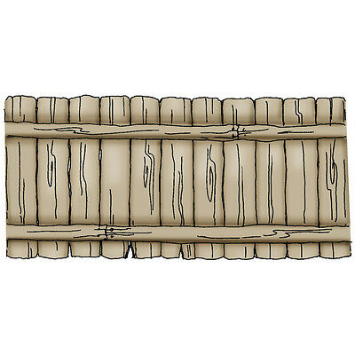 """""""Art Impressions Front-N-Backs Cling Rubber Stamp 7""""""""X4""""""""-Fence"""""""
