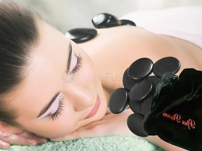 9 x HOT ROCKS RELAXING MASSAGE STONES MULTI COLOUR POUCH SPA TREATMENT HEAT THER