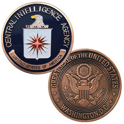 CIA Antique copper Plated Challenge coin 5006#